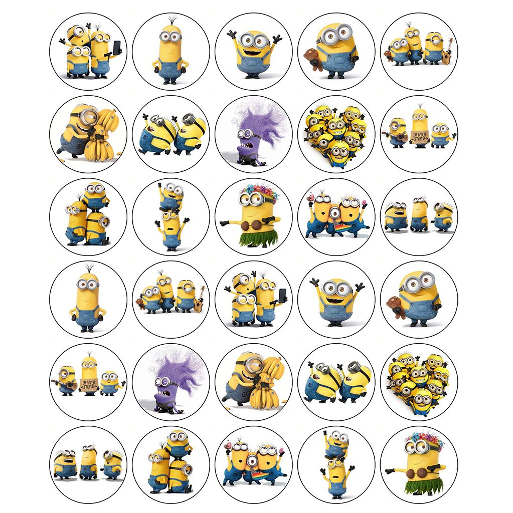 Minions Edible Cake Toppers Uk