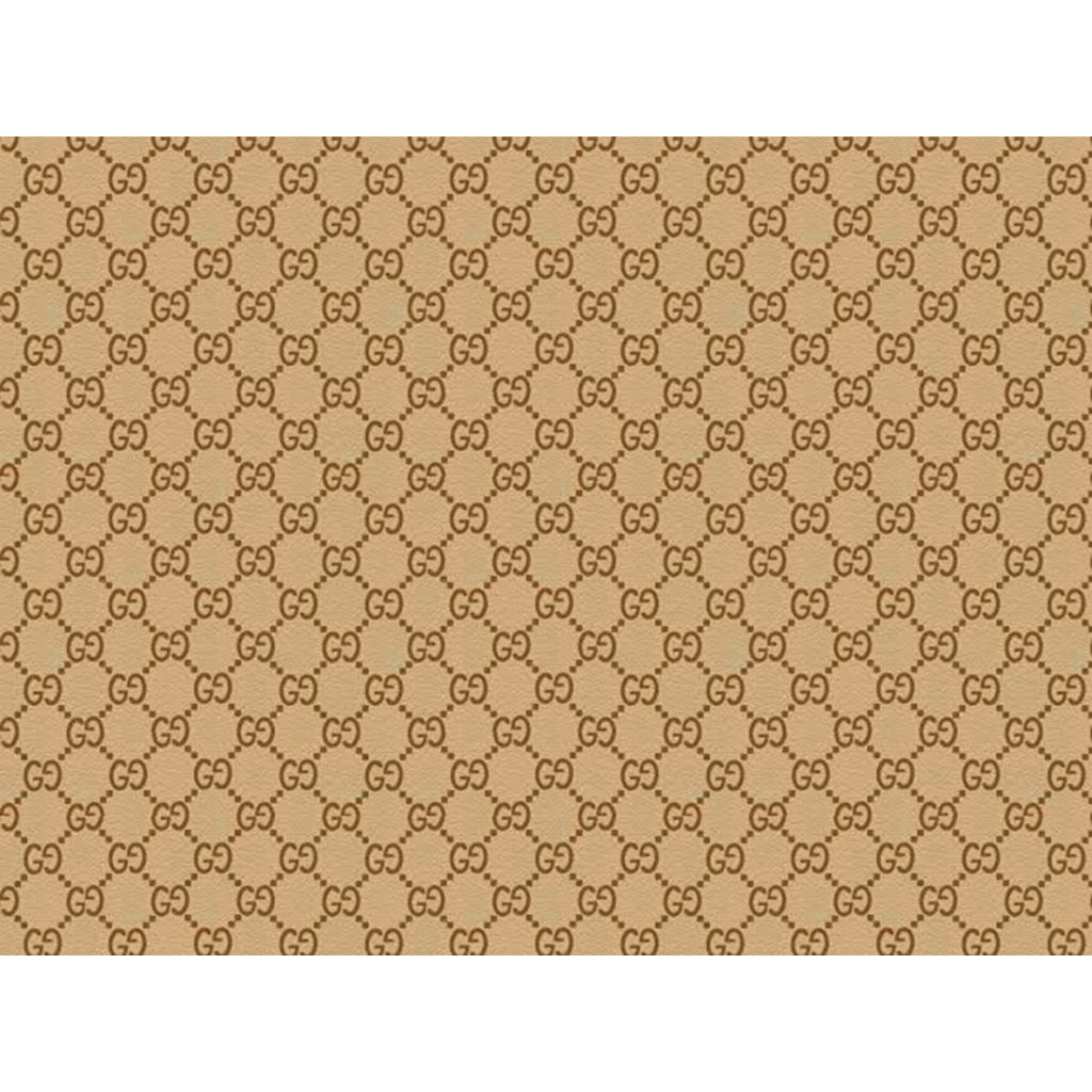 Light Brown Gucci Patterned Icing Sheet