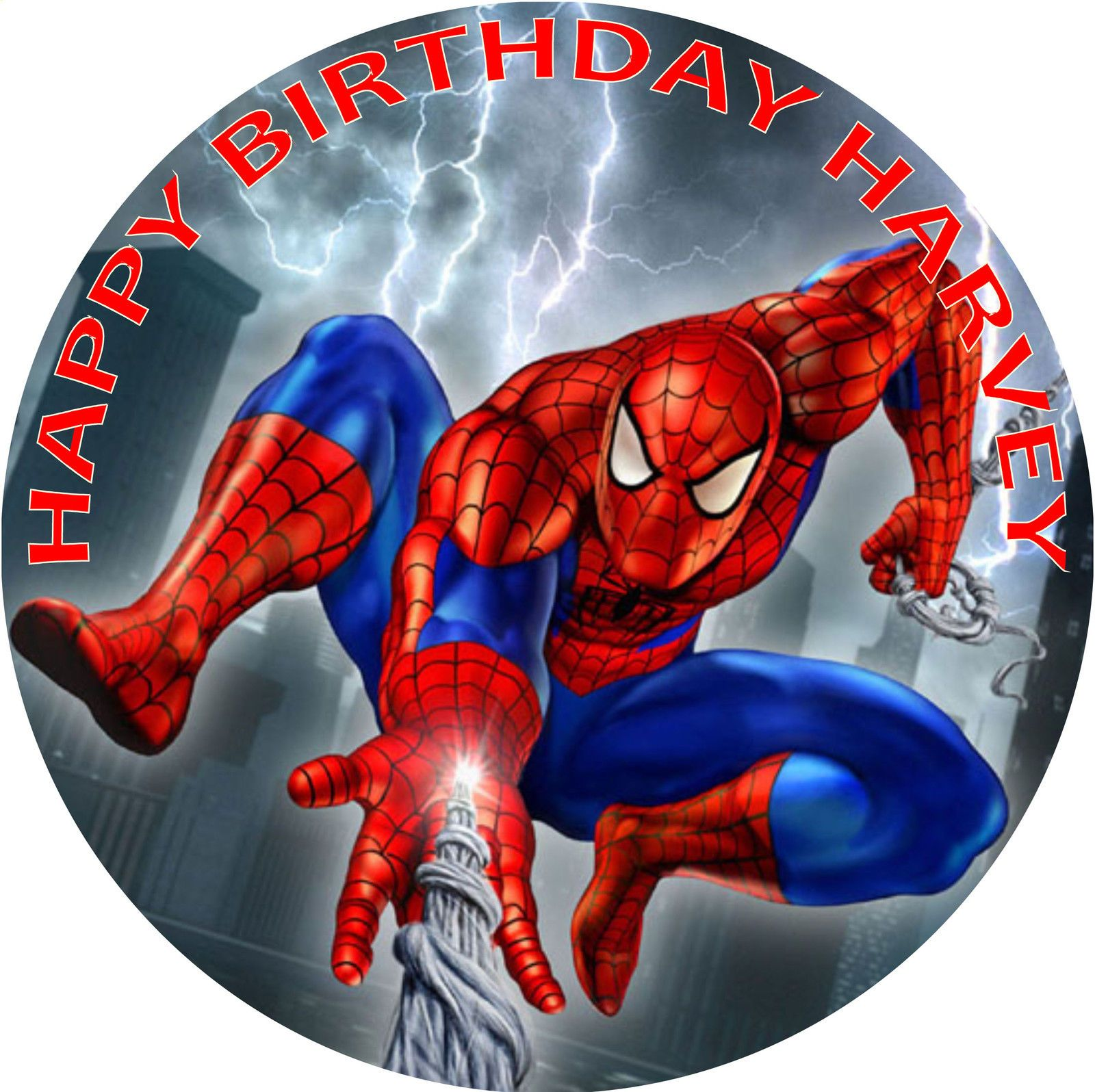 Spiderman Icing Cake Topper