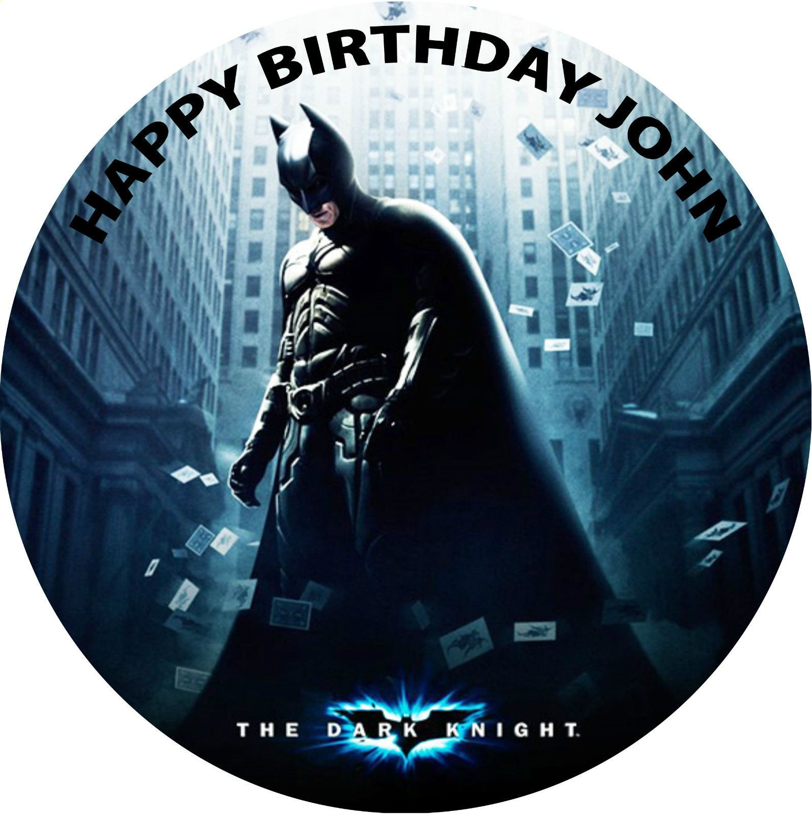 Strange Batman Birthday Cake Round Edible Printed Birthday Personalised Birthday Cards Veneteletsinfo