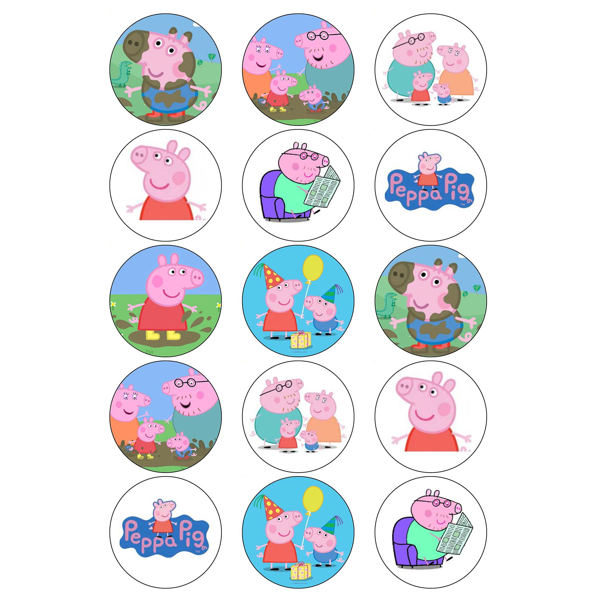 Excellent Peppa Pig Cupcake Toppers Funny Birthday Cards Online Overcheapnameinfo