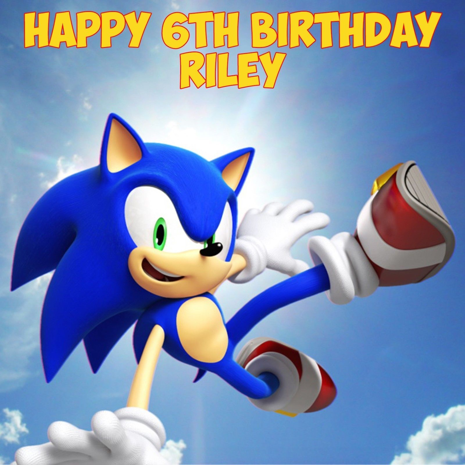 Astounding Sonic The Hedgehog Personalised Edible Square Birthday Cake Topper Funny Birthday Cards Online Bapapcheapnameinfo